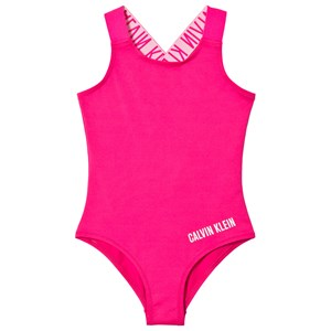 Image of Calvin Klein Pink Branded Straps Swimsuit 12-14 years (3006286733)