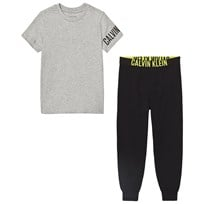 Calvin Klein Gray Branded T-Shirt and Black Bottoms Pyjama Set 029