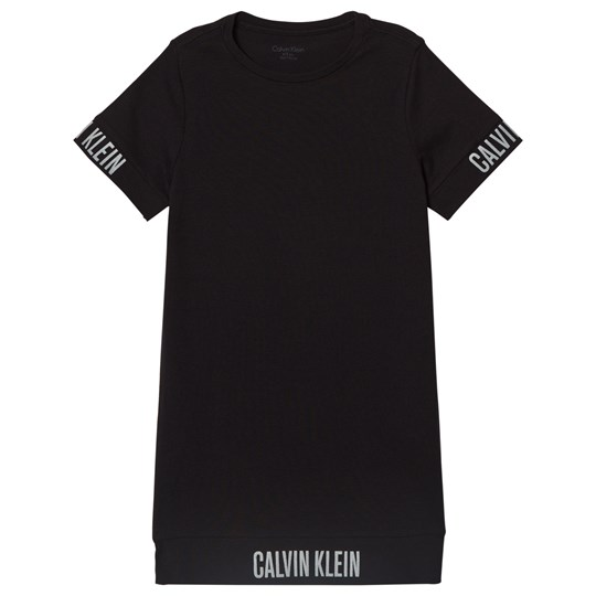 Calvin Klein Black Branded T-Shirt Dress 001