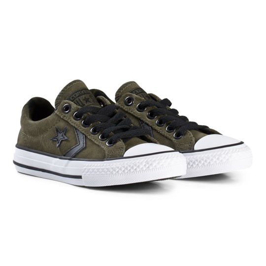 Converse Khaki Star Player OX Junior Skor BLACK/WHITE/BLACK