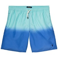 Ralph Lauren Green and Blue Dip Dye Swim Shorts 001