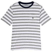 Ralph Lauren Grey Stripe Pocket Tee 001