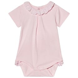 Mayoral Pink Broiderie Anglais Collar Baby Body