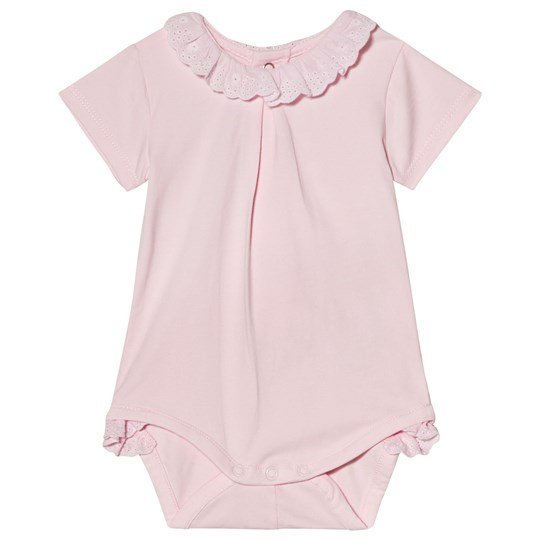 Mayoral Pink Broiderie Anglais Collar Baby Body 96