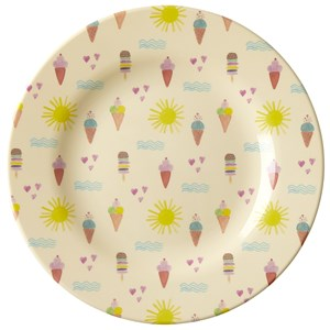 Rice Melamine Round Side Plate with Summer Print