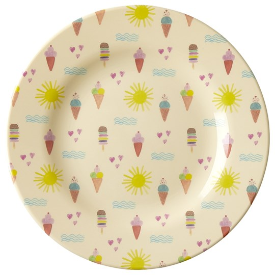 Rice Melamine Round Side Plate with Summer Print summer print