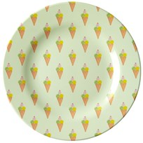 Rice Melamine Round Side Plate with Ice Cream Print icecream print