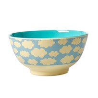 Rice Melamine Bowl with Cloud Print голубой