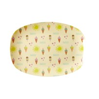 Rice Small Rectangular Melamine Plate with Summer Print summer print