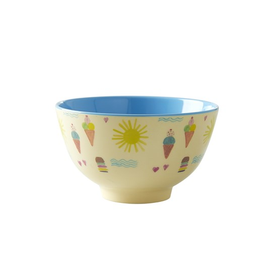 Rice Small Melamine Bowl with Summer Print summer print