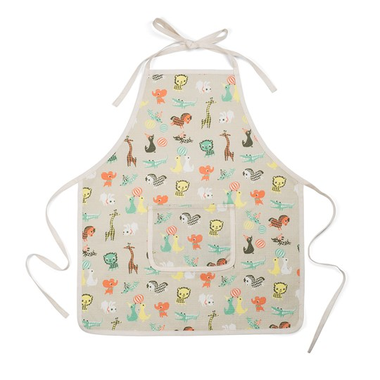 Littlephant Kids Apron in Little Friends/Gray Grey/multi