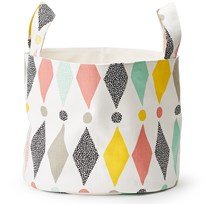 Littlephant Medium Soft Basket Harlequin/White Multi