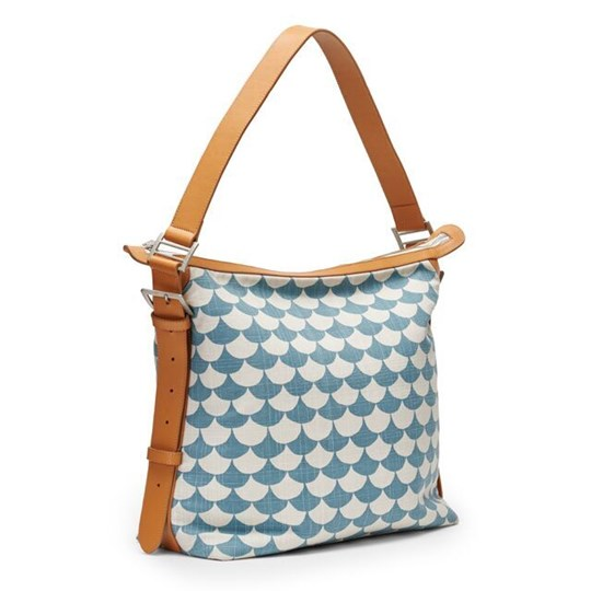 Littlephant Small Messenger Bag Waves - Blue/Grey Blue/grey