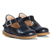 Angulus Navy Perforated Leather Sandals 1530