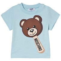 Moschino Kid-Teen Blue Bear Ice Cream Print Tee 40452