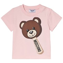 Moschino Kid-Teen Pink Bear Ice Cream Print Tee 50413