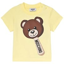 Moschino Kid-Teen Yellow Bear Ice Cream Print Tee 50916