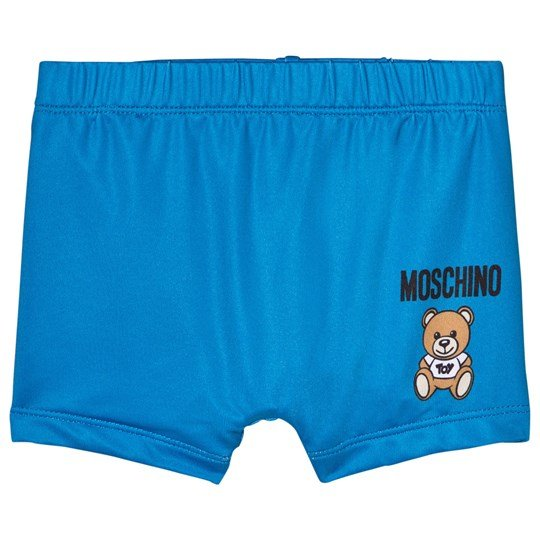 Moschino Kid-Teen Blue Bear Branded Swim Shorts 40203