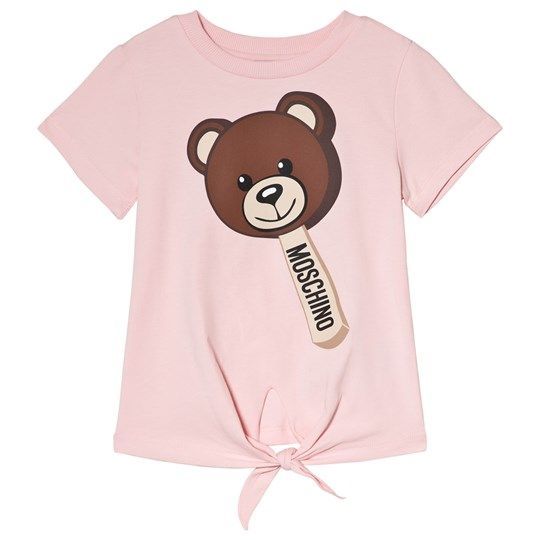 Moschino Kid-Teen Pink Bear Lolly Tie Tee 50413