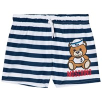 Moschino Kid-Teen Navy Stripe Sailor Bear Print Swim Shorts 80470