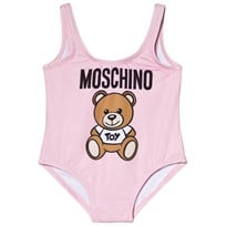Moschino Kid-Teen Pink Bear Print Swimsuit 50413