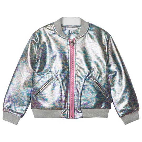Little Marc Jacobs Silver Iridescent Effect Bomber Jacket Z41