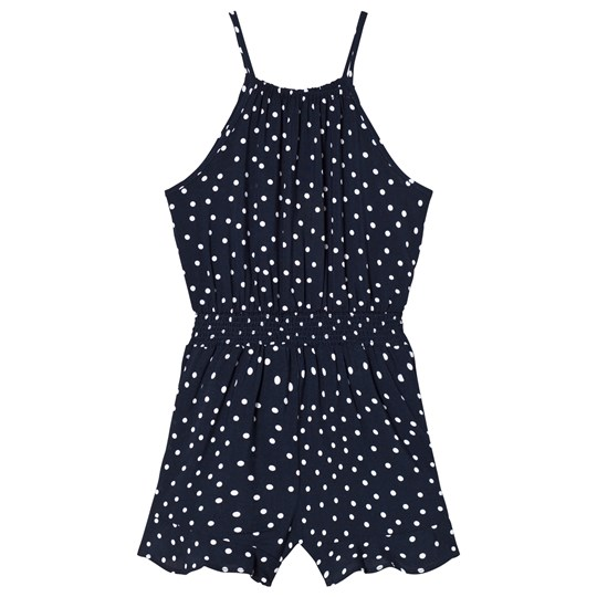 Bardot Junior Prickig Cassied Shirred Romper Marinblå NAVY SPOT