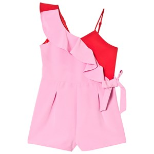 Image of Bardot Junior Sherbet and Red Frill Romper 14 years (3006287347)