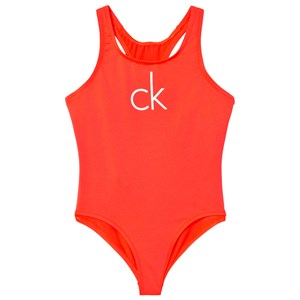 Image of Calvin Klein Neon Pink Branded Swimsuit 10-12 years (3006286741)