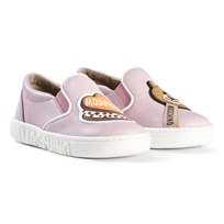 Moschino Kid-Teen Pink Bear Lolly Slip On Trainers 9106