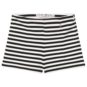 Image of Relish Black and Cream Stripe Stretch Shorts 14 years (3007396443)