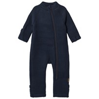 Mikk-Line Wool One-Piece Blue Nights Blue Nights