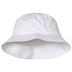 Melton Solid Bucket Hat White