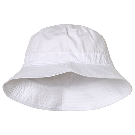 Melton Solid Bucket Hat White White