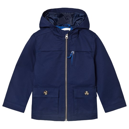 Cyrillus Navy Cotton Hooded Jacket 6399