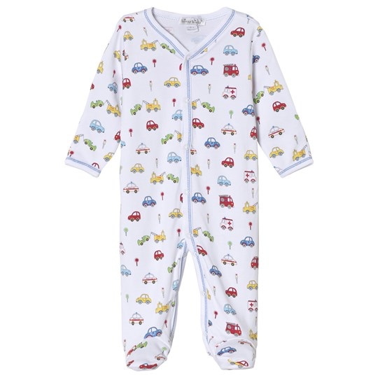 Kissy Kissy White Multi Car Print Babygrow WH