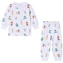 Kissy Kissy White Jungle Animal Pyjamas WH