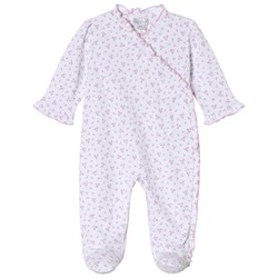 Kissy Kissy Pink Floral Print Ruffle Wrap Footed Baby Body