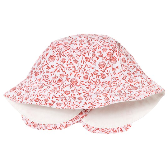 Carrément Beau Pink and White Floral Sun Hat 117