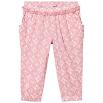 Noa Noa Miniature Blush Print Pants with Frill Detail Blush