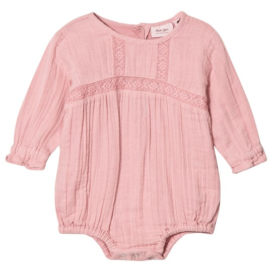 Noa Noa Miniature Blush Embroidered Long Sleeved Baby Body Blush
