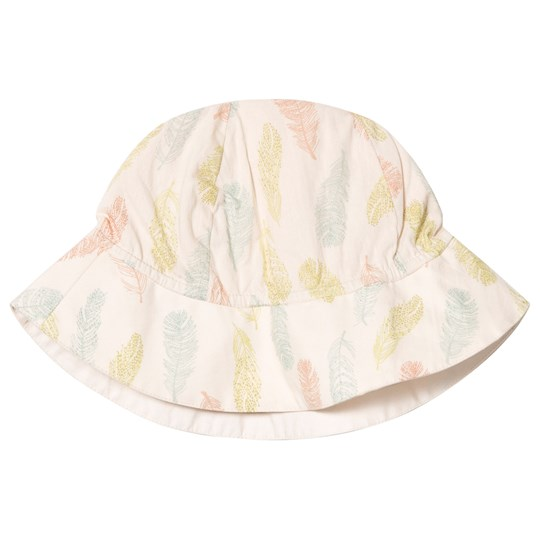 Noa Noa Miniature Sand Dollar Feather Print Sun Hat SAND DOLLAR