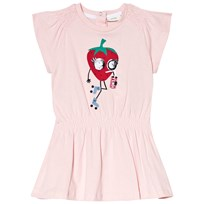Fendi Pink Strawberry Monster Print Dress F0QD1