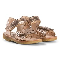 Angulus Rose Gold Butterfly Open Toe Sandals Metal - 1311