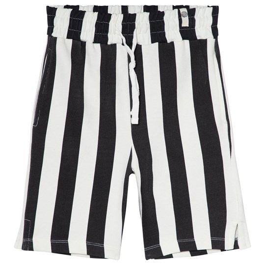 Popupshop Randiga Mjukis Shorts Svart/Off White Stripe Black/Off White