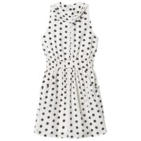 How To Kiss A Frog Poki Dress White Dot white dot