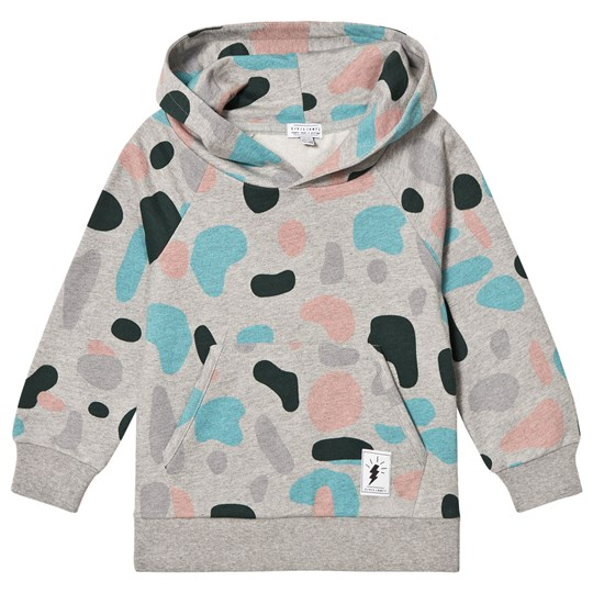 Civiliants Allover Print Hoodie Grey Melange Grey Melange