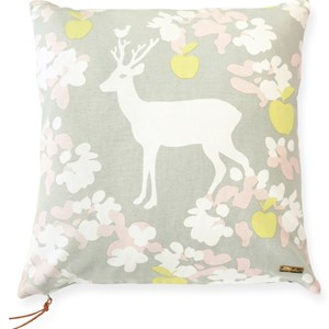 Image of Majvillan Apple Garden Cushion Cover Grey (3007398895)