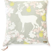 Majvillan Apple Garden Cushion Cover Grey Harmaa