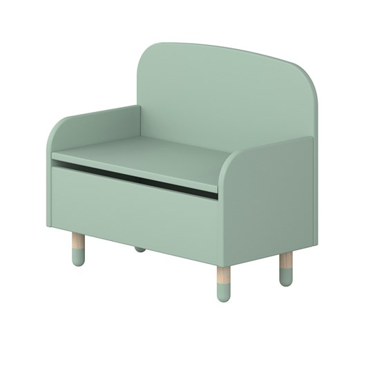 Flexa Furniture Storage Bench with Backrest Mint Green
